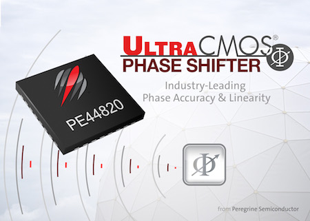 Peregrine Semiconductor's new UltraCMOS® PE44820 is an 8-bit digital phase shifter that delivers exceptional phase accuracy and high linearity for active antenna applications.