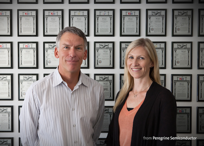 Dan Nobbe, Peregrine's vice president of corporate research & IP development, and Erica Poole, IP manager, spearhead Peregrine's patent filing initiatives.
