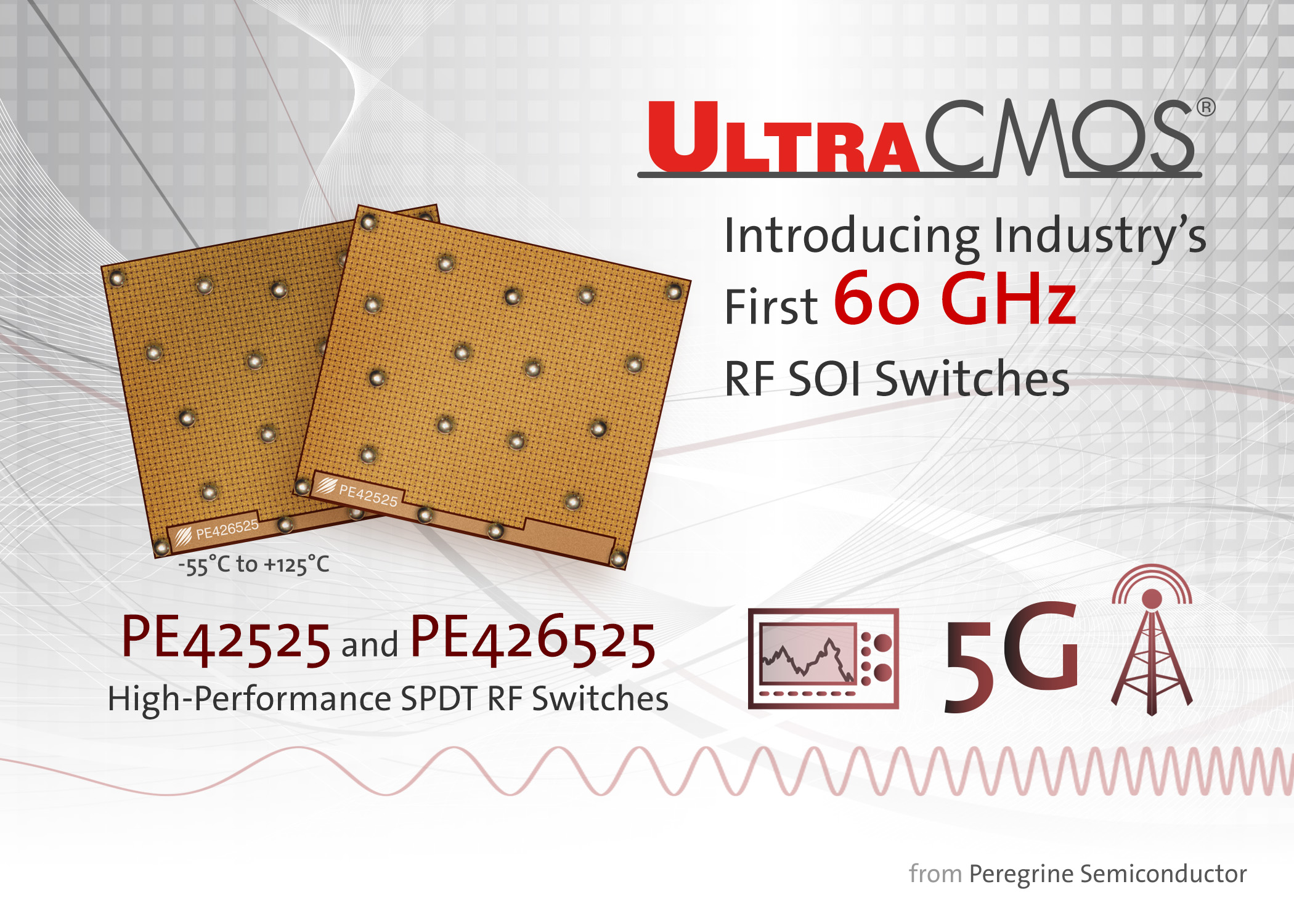 Peregrine Semiconductor Reveals 60 Ghz Rf Soi Switches Psemi Controller Using A Dpdt Switch Tech And Code
