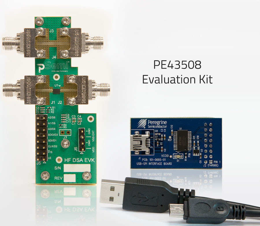 The PE43508 is the world's first single-chip SOI DSA to support the entire 9 kHz to 55 GHz frequency range.